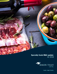 Specialty foods M&A update: H1 2018 | Insights