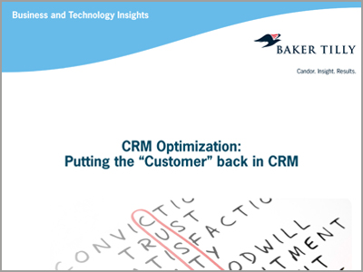 "CRM optimization: Putting the ""customer"" back in CRM"