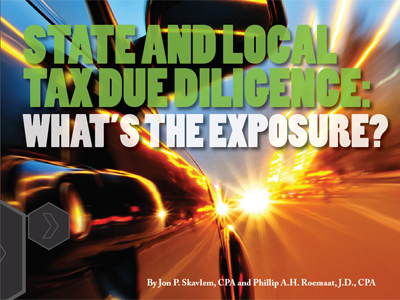 State and local tax due diligence: What's the exposure?